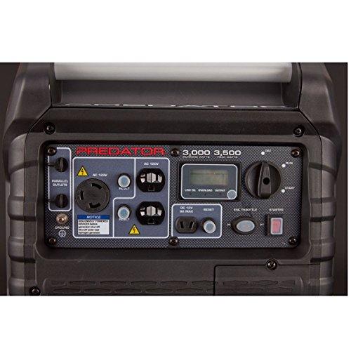 Predator 3500 Super Quiet Inverter Generator, Red