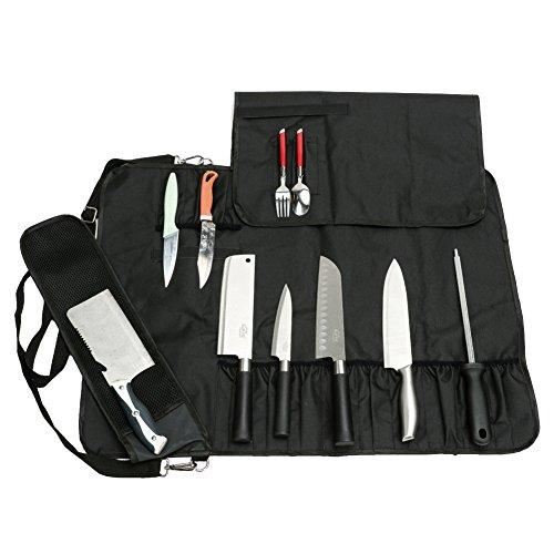 HANSHI Borsa Porta coltelli Pieghevole Custodia di stoccaggio Arrotolabile con Tracolla