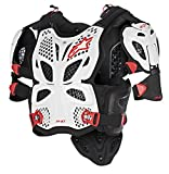 Alpinestars A-10 Full Chest Protector-White/Black/Red-XL/2XL