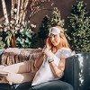 Pure Silk Pillowcase Gift Set for Hair and Skin 22 mm 100% Natural Mulberry Silk Pillow Case with Hidden Zipper, Silk Eyemask, & Silk Scrunchi Fits Standard & Queen Size | Gift for Women | WHITE