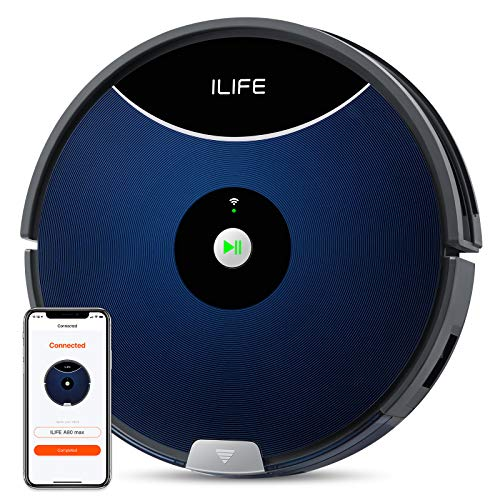 ILIFE A80 Max Robotic Vacuum Cleaner, 2000Pa Max Suction, Wi-Fi Connected