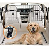 COLETA Dog Car Barrier for SUVs & Vehicles - Adjustable Large Pet Barrier with Bonus Guard Mesh for Full Coverage. Heavy-Duty, Universal-Fit Easy Install-Removal Divider for Pet Car Safety