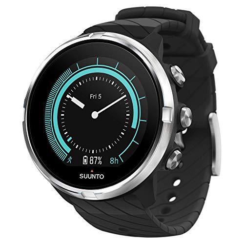 Suunto 9 GPS-Sportuhr mit langer Batterielaufzeit und Herzfrequenzmessung am Handgelenk, Schwarz, SS050142000