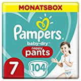 Pampers Baby-Dry Pants, Gr. 7, 17kg+, Monatsbox (1 x 104 Pants)