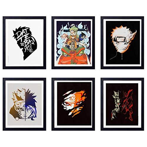 MS Fun Legend of Ninja Japanese Anime Uzumaki Naruto Uchiha Sasuke Art Prints,Set of 6,8 x 10...