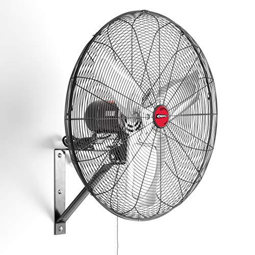 OEM TOOLS OEMTOOLS OEM24884 30 Inch High-Velocity Oscillating Wall Mount Fan, 30', Black