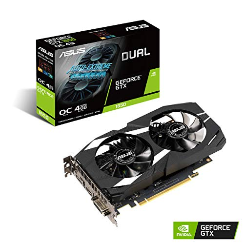 ASUS TUF Gaming GeForce GTX 1650 4 GB GDDR5, PCI-Express x16, Scheda Video Gaming, Dissipatore Biventola per Gaming HD, Tecnologia AutoExtreme