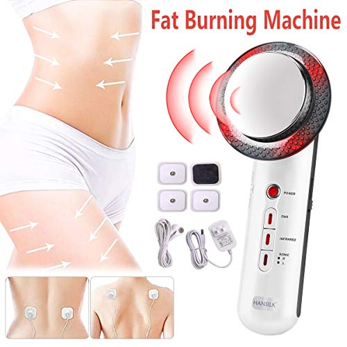 Fat Burning Machine 3 in 1 Multifunctional EMS Infrared Massager Fat Remover Weight Loss Machine Sonic Sliming Fat Melting Body Shaping Machine for Belly Arm Leg Portable Skin Care Beauty Device