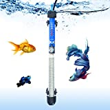 SALUTE Aquarium Heater Submersible Auto Thermostat Heater, 200W Fish Tank Heater and Adjustable Temperature with 2 Suction Cups Suitable for 30-75 Gallon Fish Tank