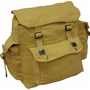 Zip Zap Zooom - Mochila para hombre, lona, diseño militar, color beige 4