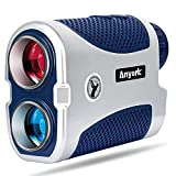 Anyork Golf Rangefinder 1500yards, 6X Laser Range Finder with Slope On/Off,Flag-Lock Tech with Vibration, Continuous Scan Support-with Battery