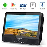 FANGOR 10.1' Android Tablet/Portable DVD Player for Car, Quad-Core 1.3GHz with 16GB Storage, Support HDMI Out, USB & SD Card Reader, Built-in Rechargeable Battery, Last Memory, Regions Free