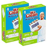 Mr. Clean Magic Eraser Bath Scrubber, 4Count (Pack of 2) (Health and Beauty)