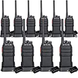 Retevis H-777S Walkie Talkies Long Range Rechargeable UHF FRS VOX Scan Privacy Codes Handsfree Security Two Way Radios (10 Pack)