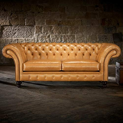 JVmoebel Chesterfield Winchester (CH) Divano imbottito in tessuto pelle divano divano divano divano