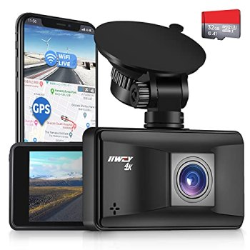 Dash Cam Front and Rear Camera 1080P SD Card Included Car Dash Cam with Night Vision 3 Inch LCD Screen Dashboard Camera for Vehicle 170° Wide Angle G-sensor, 24H Parking Monitor Loop Recording HDR