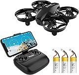 Potensic Mini Drone A20W avec Trois Batteries Longue Autonomie Drone avec...