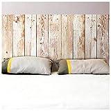Rétro Sticker Mural - Tête de lit en Bois