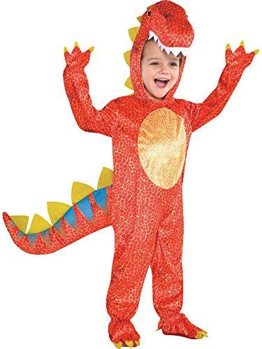 Dinosaur Halloween Kids Fancy Dress Boys Girls Animal Children Costume (Medium Ages 4-6)