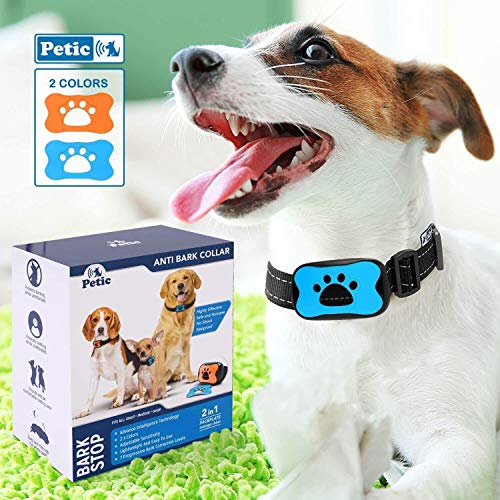 Petic - Collare Anti Abbaio Cani Addestramento Animali Suono E Vibrazione - per Cani Piccola Media...
