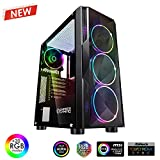 EMPIRE GAMING – Boitier PC Gamer Diamond - ARGB Moyenne Tour ATX –...
