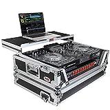 ProX Flight Case for Denon Prime 2 Standalone DJ System with Sliding Laptop Shelf - Silver on Black Design - XS-PRIME2 LT