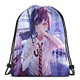 Yuanmeiju Drawstring Bag Sport Gym Sack Party Favor Bags Wrapping Gift Bag Mochila con cordón Storage Goodie Bags Cinch Bag Ichigo