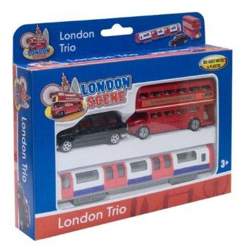 Richmond Toys, Motormax Best of British Street Scenes London Trio Die-Cast Gift Set