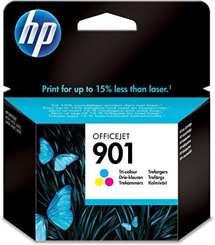 HP 901 Tricromia CC656AE Cartuccia Originale per Stampanti a Getto di Inchiostro, Compatibile con Officejet All-in-One...
