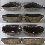 double vasque lavabo à poser en pierre naturelle 40cm, Duo. Choix sur photos...