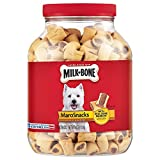 Contains (1) 40 Ounce canister of Dog Treats for dogs of all sizes Wholesome, delicious treats that you can feel good about giving Dog treats with real bone marrow and two layers of meaty crunch Rich in calcium to help maintain strong teeth and bones...