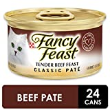 Purina Fancy Feast Classic Tender Beef Feast Cat Food - (24) 3 oz. Pull-top Can