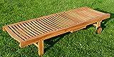 ASS 2X Hochwertige Teak Sonnenliege Gartenliege Strandliege Liegestuhl Holzliege Holz sehr robust - 5