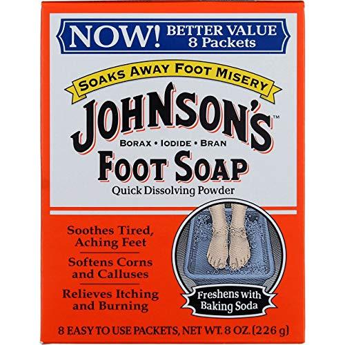 Johnsons Foot Soap Powder, 8 Packets