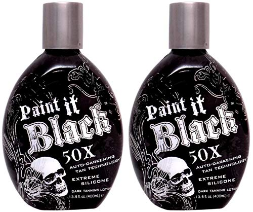 LOT of 2 Millennium PAINT IT BLACK 50X Bronzer Indoor Dark Lotion Tanning Bed by Millennium Tanning Products
