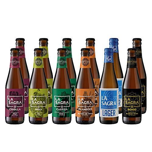La Sagra Pack Cerveza Artesanal 6 Estilos, Botella, 12 x 330