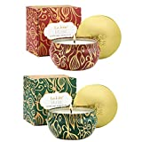 LA JOLIE MUSE Scented Candles Set 2 Cedarwood Fir & Cinnamon Pumpkin, Fall Candles,13Oz Natural Soy Wax Winter Candles, Holiday Candles, Christmas Candle Gift