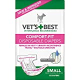 Vet's Best Comfort Fit Dog Diapers | Disposable Female Dog Diapers | Absorbent...