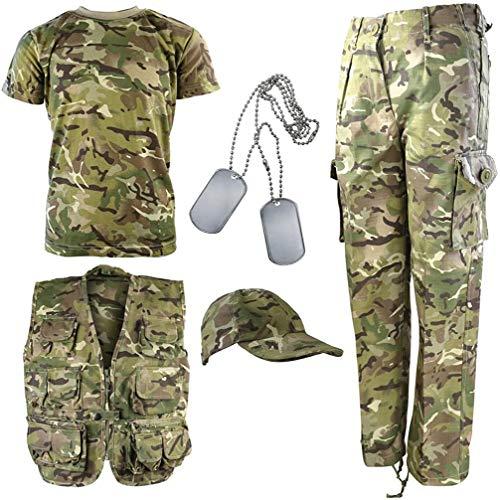 Kombat UK Explorer Kit - Traje de camuflaje para niños , Multicolor (British Terrain Pattern), 12 - 13 años