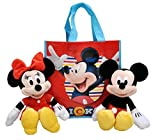 Disney 11' Plush Mickey & Minnie Mouse 2-Pack in Tote Bag