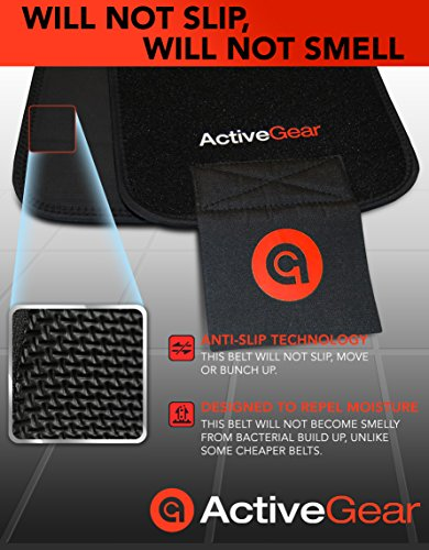 """ActiveGear Waist Trimmer Belt for Stomach and Back Lumbar Support, Large: 9"""" x 46"""" - Red 7"""