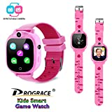 PROGRACE Kids Smart Watch with 90Rotatable Camera Smartwatch Touch Screen Kids Watch Music Pedometer Flashlight FM Radio Games Digital Wrist Watch for Girls Electronic Learning Toys