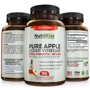 Apple Cider Vinegar Capsules - 3X Potency 1950mg - Weight Loss, Detox & Cleanse - Diet Pills for Women & Men, Keto Belly… 2 - My Weight Loss Today