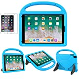 iPad 9.7 2018/2017 / Air 1/2 / Pro 9.7 Case for Kids - SUPLIK Duable Shockproof Protective Handle Bumper Stand Cover with Screen Protector for iPad 9.7 inch 5th/6th Generation, Blue