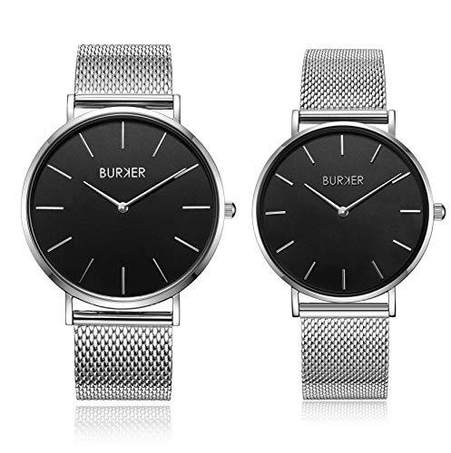 Il regalo perfetto - Burker Adam & Eve orologio da uomo e da donna - anniversario, compleanno, San...