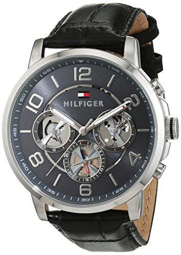 Orologio da uomo al quarzo Tommy Hilfiger 1791289, con visualizzazione multi-quadrante e cinturino...