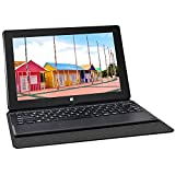Yuntab T2 Intel Z3735F Windows10 HybridTablet PC 8001280 IPS 10.1 Inches Quad Core Dual Camera 2.0MP and 2.0 MP 2GB + 32GB with Keyboard(Black)