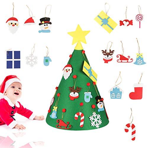 Jangostor 18 UNIDS Fieltro Árbol de Navidad 70CM DIY Árbol de Navidad para niños Suministros de Fiesta Decoración de Navidad Decoraciones para el hogar