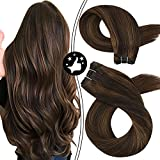 Moresoo Weft Hair Extensions Human Hair Sew in Bundles 100% Natural...