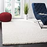 Safavieh Milan Shag Collection SG180-1212 2-inch Thick Area Rug, 8' 6' x 12', Ivory